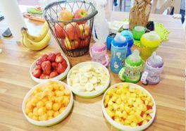 Es gibt täglich frisches Obst