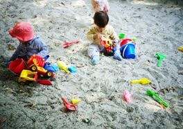 Spielplatz - Sandkasten